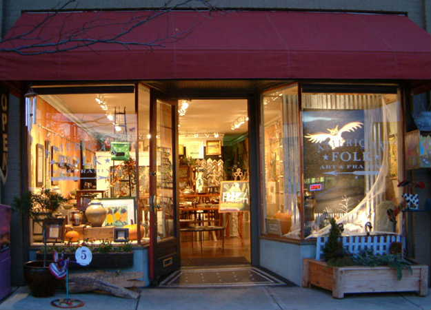 American Folk Art and Framing Storefront in Downtown Asheville