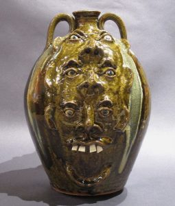 Michael Ball, 2 Gallon 2 Sided Totem, 4 teeth side