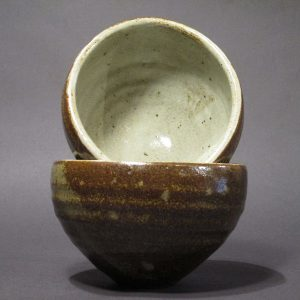 Caroline Cercone, Perfect Handful Oval Bowls in Brown