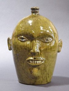 Michel Bayne, Sgraffito Eyebrow Face Jug