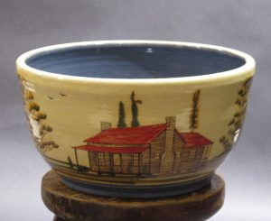 Rosa & Winton Eugene, Red Roof Cabin Presentation Bowl