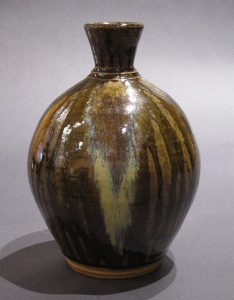 Glass Decorated Vase