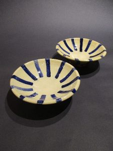 Shawn Ireland, Cobalt Striped Bowl