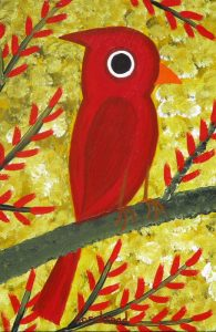 Cardinal in a Maple