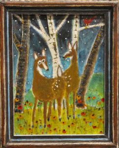 Deer in a Grove