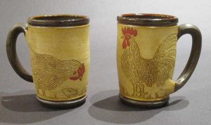 Rooster & Chick Coffee Mugs