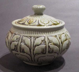 Leaf Lidded Jar