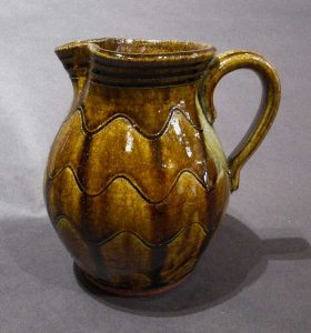 Graceful Caramel Glazed Pitcher