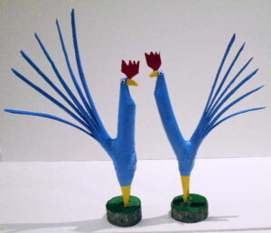 Mighty Blue Rooster, one on the right is available
